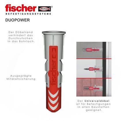 Schienen Montageset inkl. Befestigungsclipse, Schrauben und Fischer Duopower Dübel – Bild 6