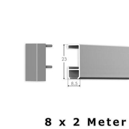 Bilderschienen Set 16 m in SILBER - Select - Bilderschiene inklusive Zubehör – Bild 3