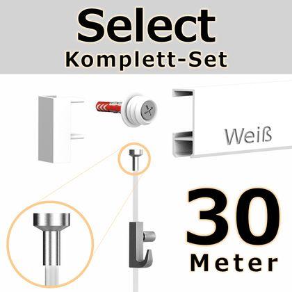 Bilderschienen Set 30 m in Weiß - Select - Bilderschiene inklusive Zubehör