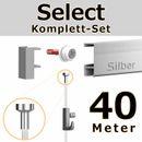 Bilderschienen Set 40 m in SILBER - Select - Bilderschiene inklusive Zubehör 001