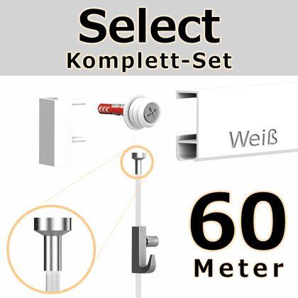 Bilderschienen Set 60 m in Weiß - Select - Bilderschiene inklusive Zubehör – Bild 1