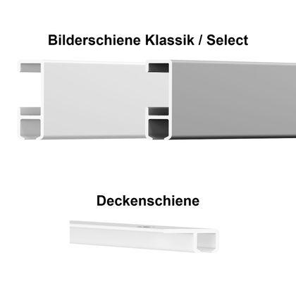 Bilderschienen Musterset inkl. Deckenschiene mit Bilderhaken – Bild 3