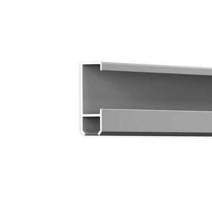 Galerieschiene Robust aus Aluminium in Silber - 2 Meter Stange – Bild 2