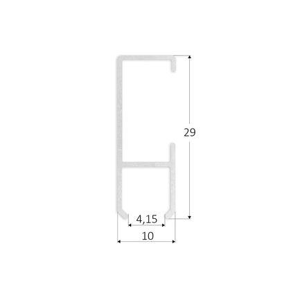 Galerieschiene Robust aus Aluminium in Silber - 2 Meter Stange – Bild 3