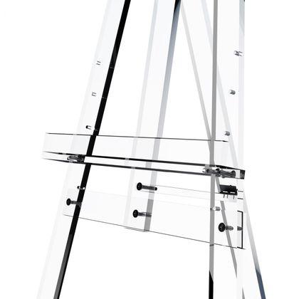 glasklare Acryl Staffelei aus Acrylglas - 175 cm  – Bild 4